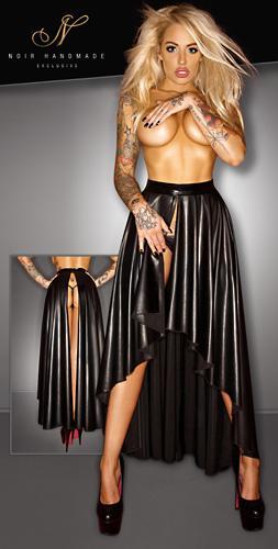 wetlook rock erotisches outfit schlitz vorne kurz hinten. Black Bedroom Furniture Sets. Home Design Ideas