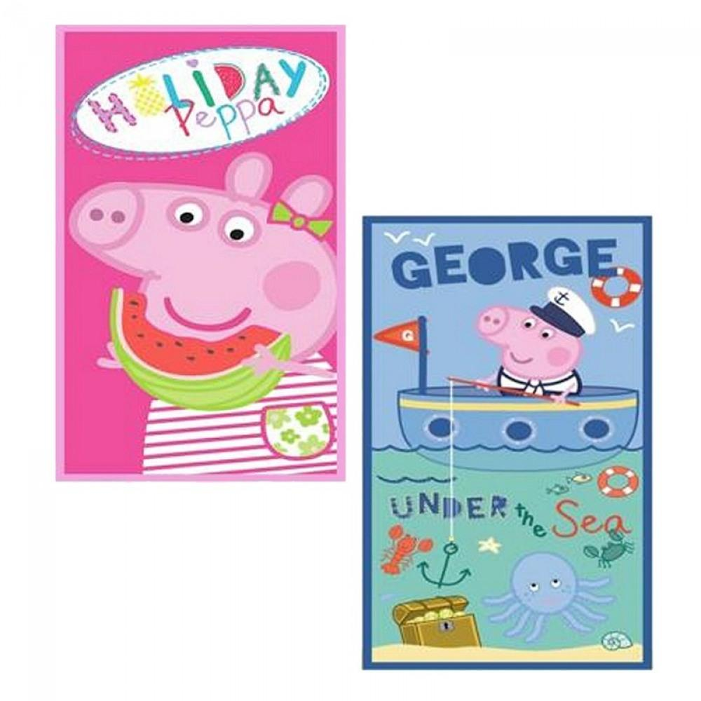 peppa pig peppa wutz handtuch badetuch strandtuch strandlaken kinder geburtstag ebay. Black Bedroom Furniture Sets. Home Design Ideas