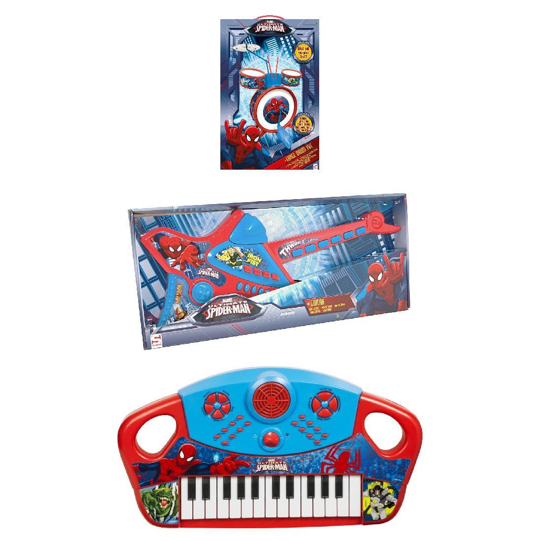 spiderman band instrumente set schlagzeug gitarre keyboard kinder marvel ebay. Black Bedroom Furniture Sets. Home Design Ideas