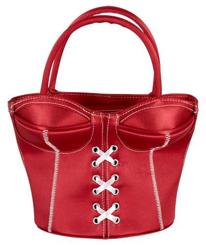 korsett handtasche damentasche damen handttasche rot kleine tasche wei e n hte ebay. Black Bedroom Furniture Sets. Home Design Ideas