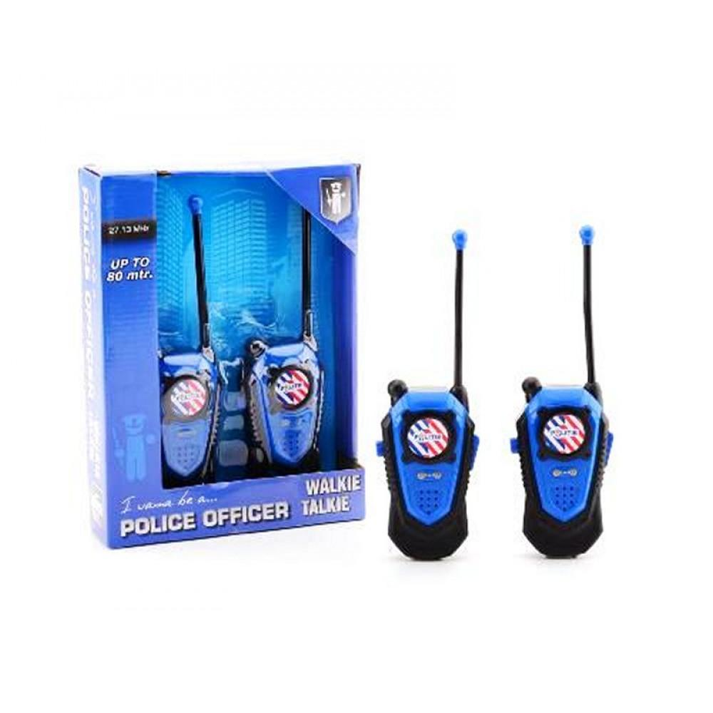 polizei walkie talkie funkger t steifenfunk kinder 2er set. Black Bedroom Furniture Sets. Home Design Ideas